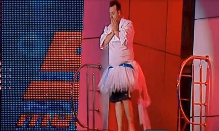 """VIDEO Arando Marquez a sărit la """"Splash!"""" îmbrăcat în fustă! A făcut un gest care-a scos-o din minţi pe Ozana"""