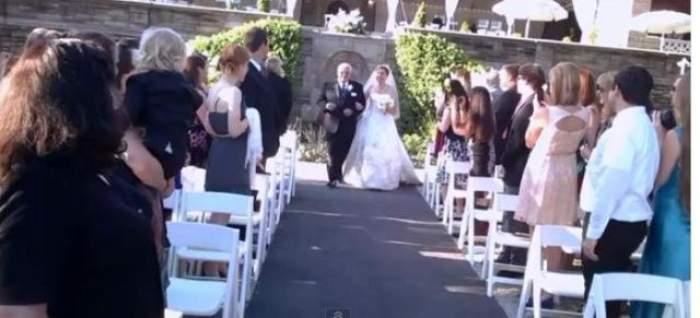 VIDEO /  Un ginere a purtat  o cameră spion la propria nuntă şi a filmat un moment extrem de stânjenitor! Mireasa a intrat în pământ de ruşine