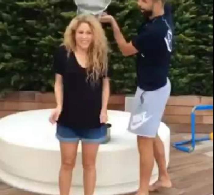 VIDEO/ O să râzi cu lacrimi! Pique i-a turnat apă în cap Shakirei şi iată cum a reacţionat!
