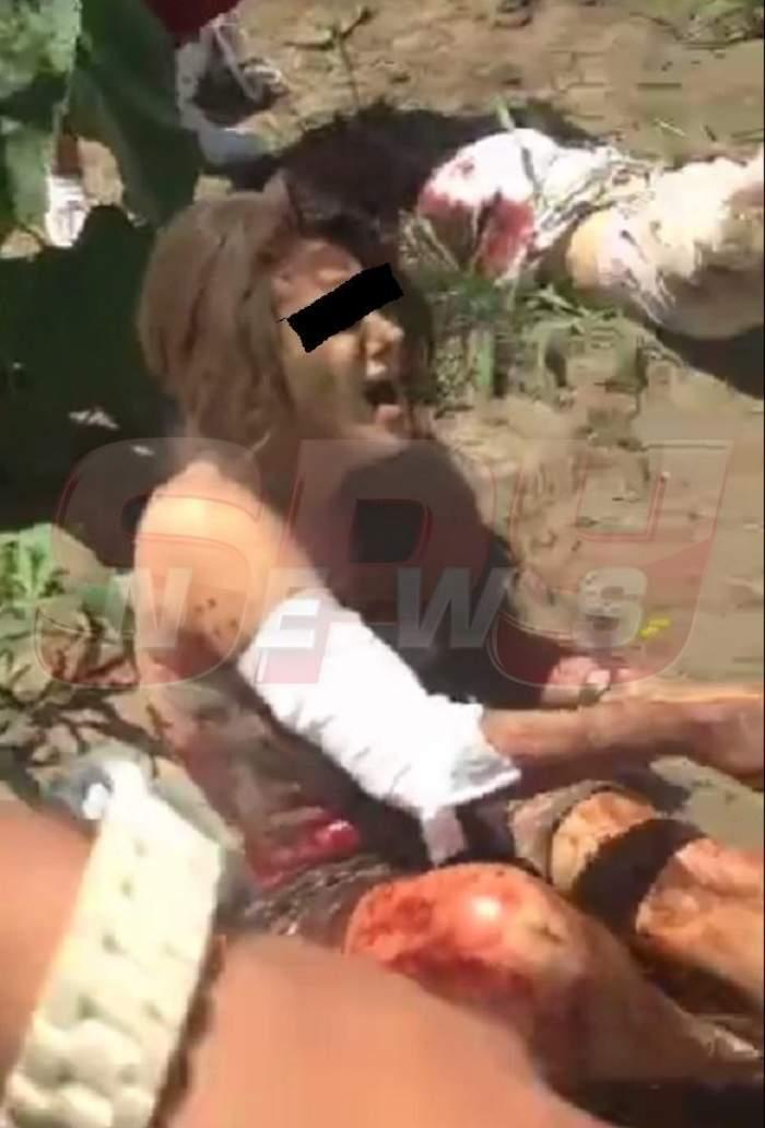 INTERZIS MINORILOR! Imagini de coşmar din cruntul accident în care 33 de oameni au fost răniţi! Una dintre victime a filmat totul! Filmul groazei!