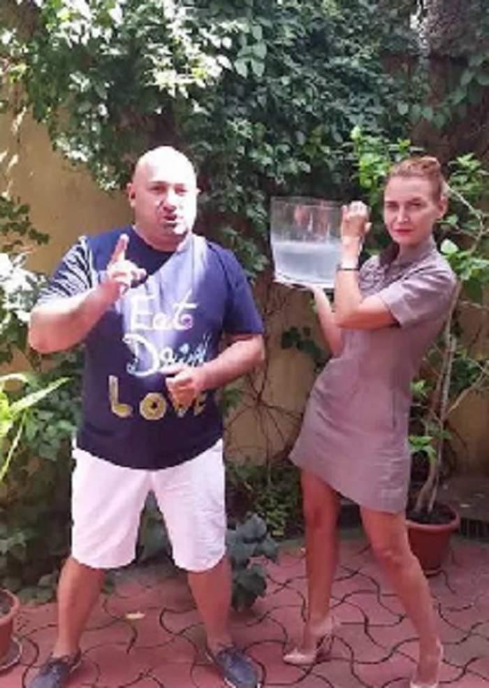 VIDEO/ Chef Cătălin Scărlătescu a acceptat provocarea Ice Bucket! Cum a reacţionat celebrul bucătar când s-a trezit cu apa cu gheaţă în cap