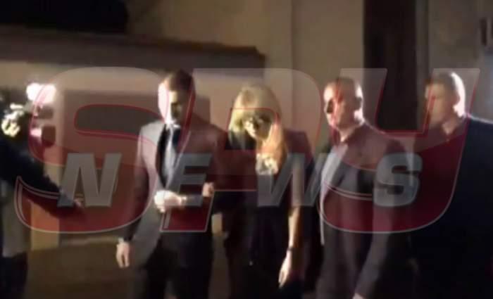 VIDEO / EXCLUSIV Apariţie neaşteptată la priveghiul lui Dinu Patriciu! Soţia milionarului şi fiul acesteia au venit să-şi ia rămas bun