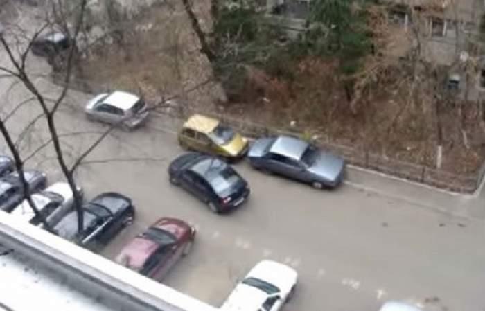 Un tânăr din Capitală a distrus 21 de maşini dintr-o parcare, după ce s-a certat cu iubita