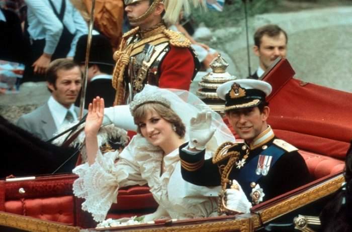 O bucată de istorie! O felie din tortul de nuntă al Prinţesei Diana a fost vândută la o licitaţie