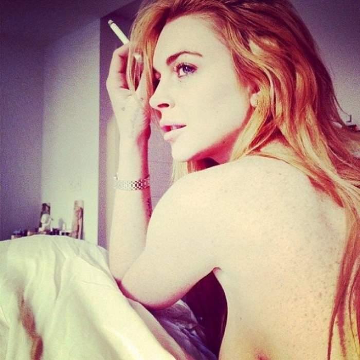 FOTO/ Lindsay Lohan a scăpat de droguri, dar s-a îngrăşat! Toţi au amuţit când a apărut AŞA la plajă