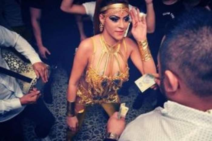 VIDEO Daniela Stan, dans la limita decenţei! Dansatoarea preferată a lui Salam se mişcă aproape porno în club