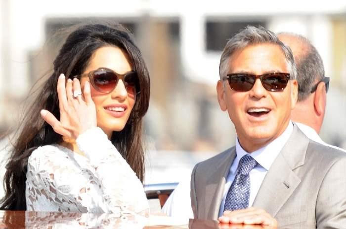George Clooney şi Amal, prima ieşire ca soţ şi soţie! Ce rochie superbă a purtat frumoasa brunetă