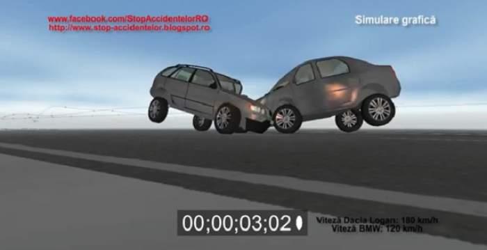 VIDEO / Cum a arătat impactul în urma căruia şase oameni au murit! Simularea accidentului de pe DN1