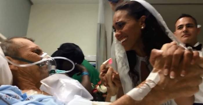 VIDEO EMOŢIONANT / Vei izbucni în plâns! O mireasă îi oferă un ultim dans tatălui ei aflat pe patul de moarte