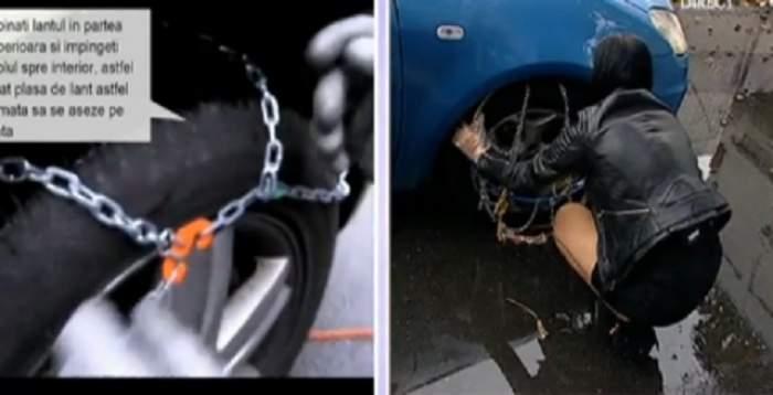VIDEO / Acuş vine iarna! Te învăţăm cum să pui lanţurile la maşină. O să ţi se pară floare la ureche