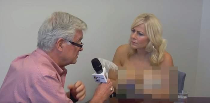 VIDEO / O jurnalistă a rămas dezbrăcată în timpul unui interviu! Reacţiile au şocat tot internetul