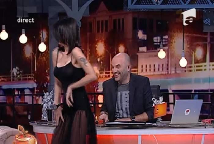 VIDEO / Oana Zăvoranu i-a dansat lui Capatos pe pupitru! Ce reacţii a stârnit aceasta cu ţinuta sa provocatoare?