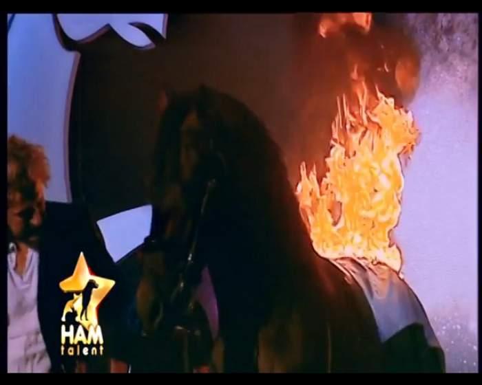 """VIDEO / Cal în flăcări la """"Ham talent""""! Ce părere au avut juraţii?"""