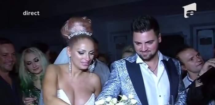 A fost o nuntă cu moţ, cu cârlionţi şi cu zulufi, dar stai să vezi tortul! Toţi invitaţii de la nunta Sânzianei Buruiană au fost impresionaţi