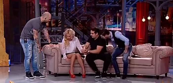 """VIDEO / Momente tensionate la """"Un show păcătos""""! Amanta lui Edy Mexicanu' a făcut un atac de panică ÎN DIRECT: """"Nu se poate ţine pe picioare"""""""