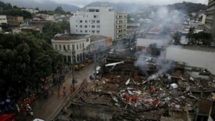 VIDEO / EXPLOZIE DEVASTATOARE la Rio de Janeiro! Au fost distruse 40 de clădiri şi 7 persoane au fost rănite