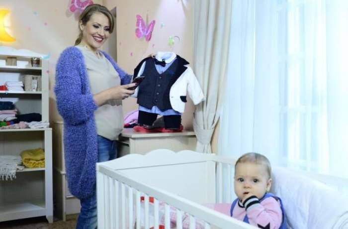 La numai opt luni, fiica Mirelei Boureanu Vaida, vedetă într-un spot publicitar
