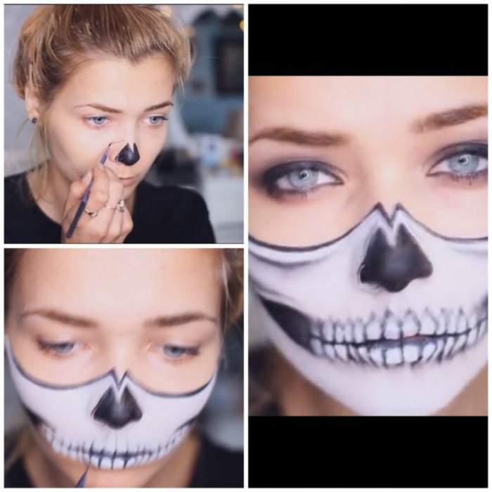 VIDEO/ Recomandare pentru Halloween. Și-a vopsit nasul cu negru, iar continuarea este cu adevărat fabuloasă