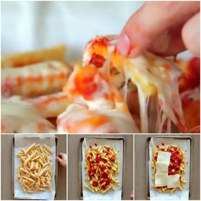 VIDEO / REŢETA ZILEI: LUNI - Cartofi înecaţi în brânză şi sos marinat! Trei ingrediente, plăcere garantată!