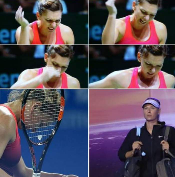 VIDEO / Simona Halep, demolată de Maria Sharapova la Turneul Campioanelor