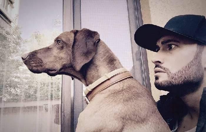 """VIDEO amuzant / Poate să participe lejer la """"Ham Talent""""! Câinele lui Mihai Bendeac are o fobie ciudată"""