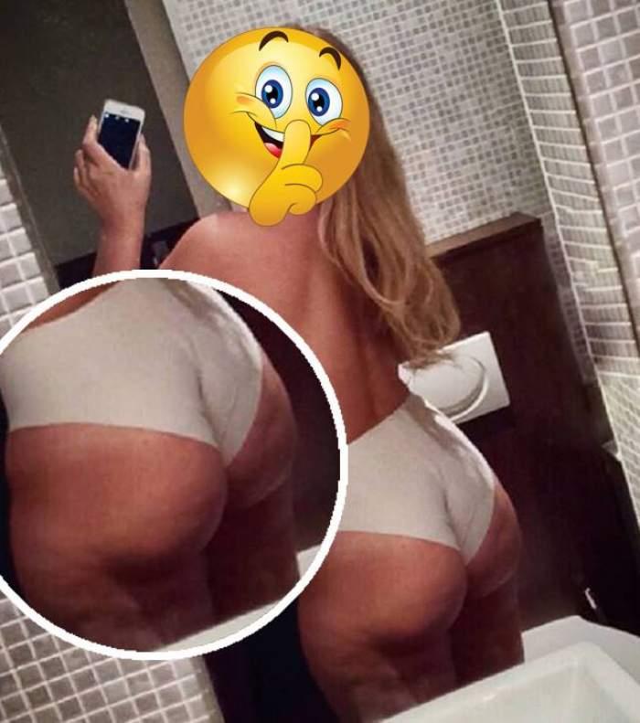 E plină de celulită, dar n-o doare! O blondă celebră a pozat aproape goală în camera de hotel şi a făcut totul public