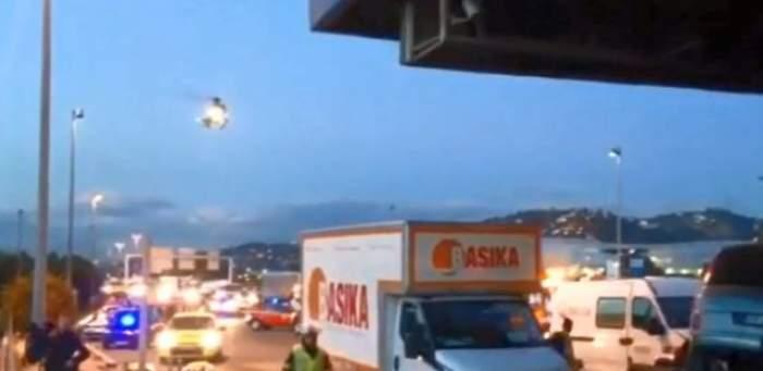 VIDEO / Accident grav provocat de un român în Franţa! O persoană a decedat, iar alte opt se află în stare gravă!