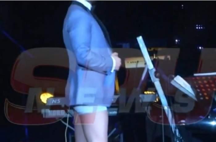 """VIDEO / Mihai Bendeac s-a dezbrăcat la """"Gala Chapeau"""", dedicată lui Gabriel Cotabiţă, şi a făcut mişto de Delia! A făcut-o grasă pe faţă"""