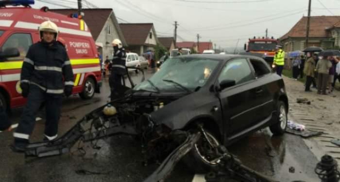 Accident CUMPLIT! Patru maşini s-au ciocnit, iar cinci persoane au fost ajuns la spital