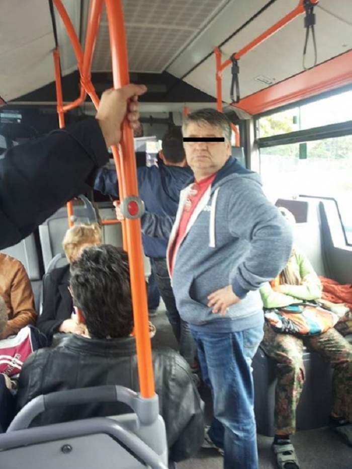 Pericol în Capitală! Un bărbat pipăie femei în autobuz, sub privirile tuturor!