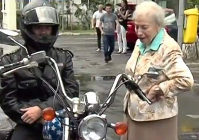 VIDEO de senzaţie / Paula Iacob, pe motor! La 82 de ani, a oferit IMAGINILE ANULUI