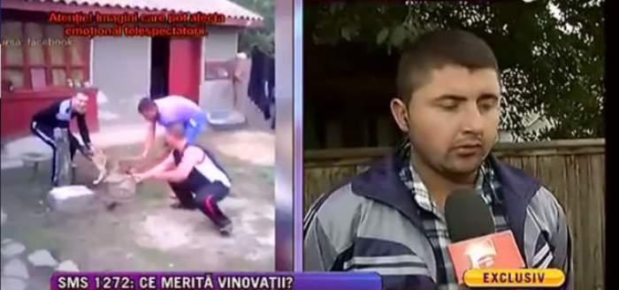 VIDEO / Trei tineri din Brăila s-au filmat în timp ce tăiau coada unui câine cu un topor! E halucinant cum îşi explică gestul macabru