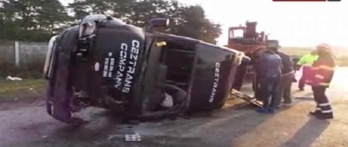 Accident de proporţii în Suceava! Şoferul unui microbuz a murit, iar alţi cinci oameni sunt grav răniţi