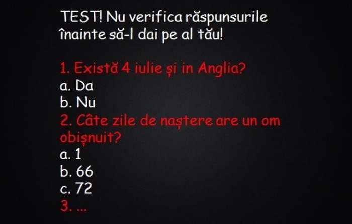 Acest test vă va pune în dificultate! Tu poţi să îl rezolvi?