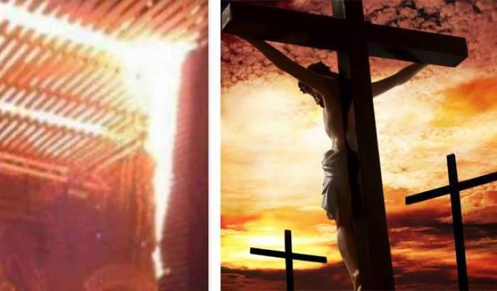 """Teoria şocantă care circulă pe internet, după tragedia din Colectiv: """"Doar eu văd forma lui Iisus răstignit pe cruce?"""""""