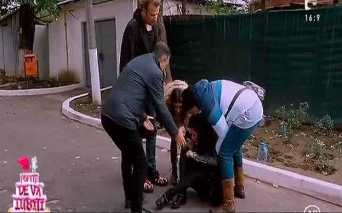 """VIDEO / Doinița Oancea a leşinat la """"Poftiţi pe la noi! Poftiţi de vă iubiţi!"""" Nea Mărin a intrat în panică imediat"""