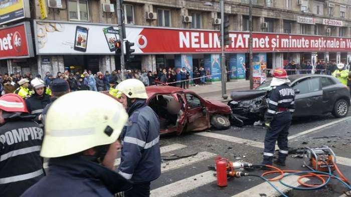 Accident cumplit în centrul Capitalei! Două persoane au murit pe loc şi 6 au fost rănite grav