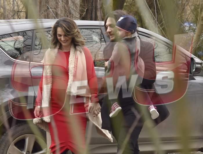 Florin Dumitrescu şi-a scos fetele la plimbare! Cum arată soţia sa, însărcinată pentru a doua oară