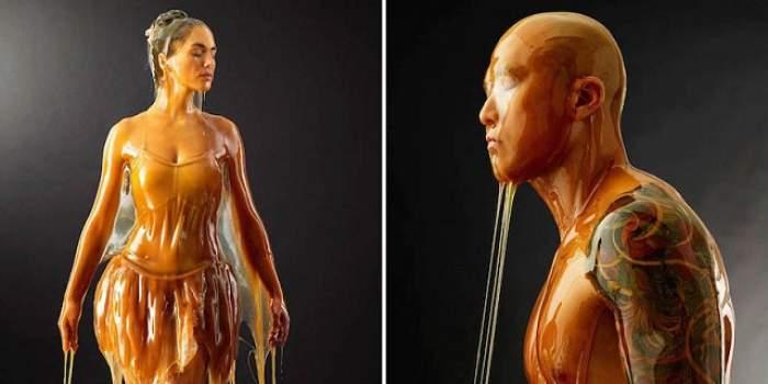 VIDEO / Un fotograf a turnat miere pe modelele lui, iar ce-a ieşit este de-a dreptul spectaculos!