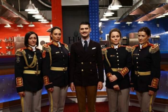 """VIDEO / Service plin de emoții! Concurenții de la """"Hell's Kitchen"""" au gătit pentru Garda Națională!"""