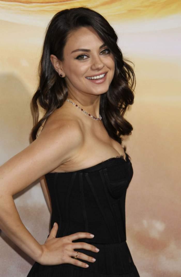 Mila Kunis, forțată să admită că s-a măritat cu Ashton Kutcher