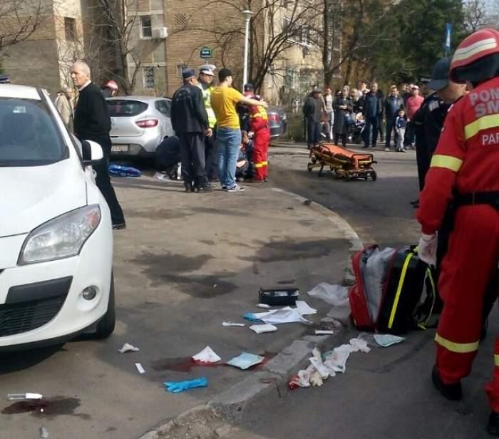 Accident teribil în centrul Bucureştiului! Şase oameni loviţi pe trotuar