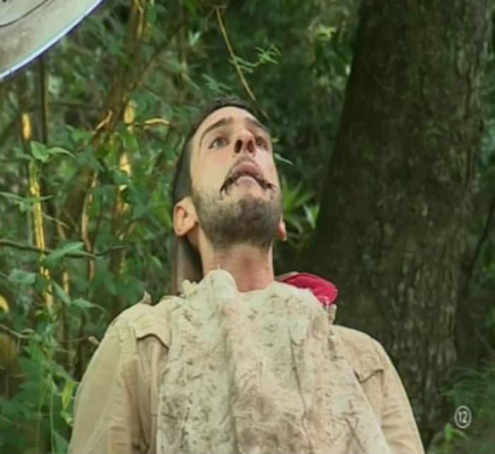 FOTO / Dorian Popa, în lacrimi! A ţinut în gură gândaci scârboşi şi melci