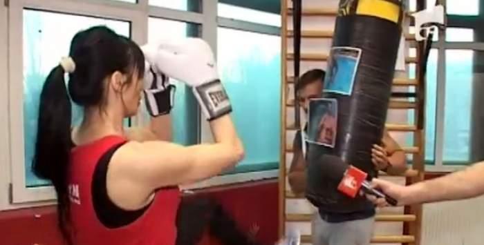 """Ela îl provoacă la o luptă în ring pe Mărculescu: """"Ăsta nu e bărbat, e femeie!"""""""
