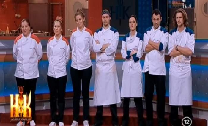 """VIDEO / Tunicile negre aduc cinci concurenți de la """"Hell's Kitchen - Iadul Bucătarilor"""" mai aproape de MAREA FINALĂ! Cine sunt NOROCOȘII!"""
