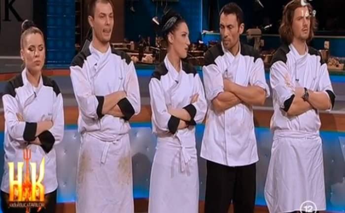 """Nervii întinși la maximum ai Chefilor aduc o nouă ELIMINARE! Iată cine părăsește competiția """"Hell's Kitchen - Iadul Bucătarilor"""""""