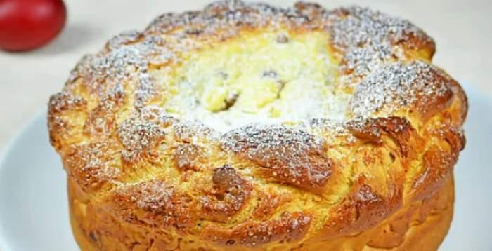 Reţeta zilei - DUMINICĂ: Pască delicioasă cu brânză şi stafide