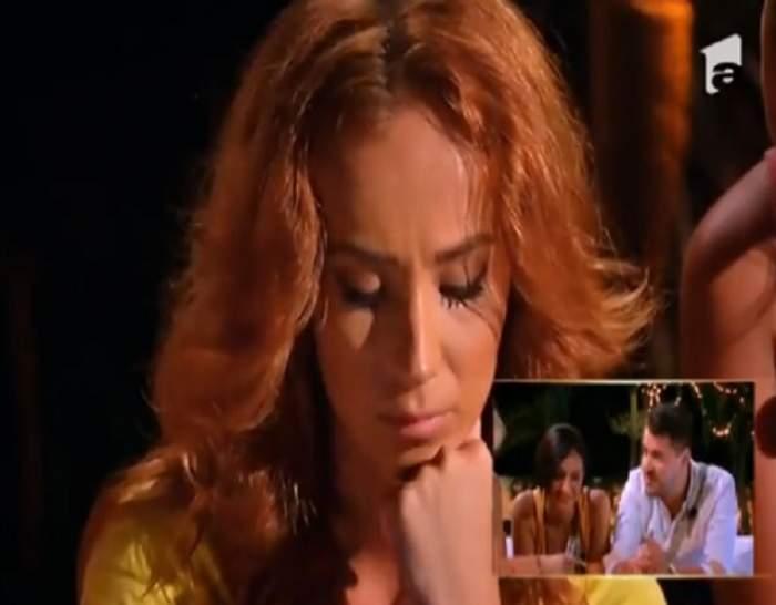 """VIDEO / Tensiune maximă pe """"Insula iubirii""""! Andreea, cu lacrimi în ochi, după ce a văzut imagini cu Bogdan şi ispita"""