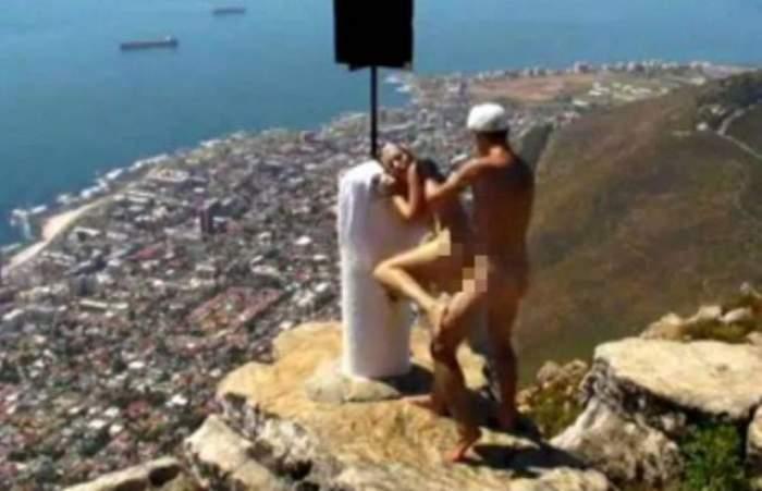 Nu s-au putut abţine! Doi tineri s-au filmat în timp ce au făcut SEX în vârful muntelui