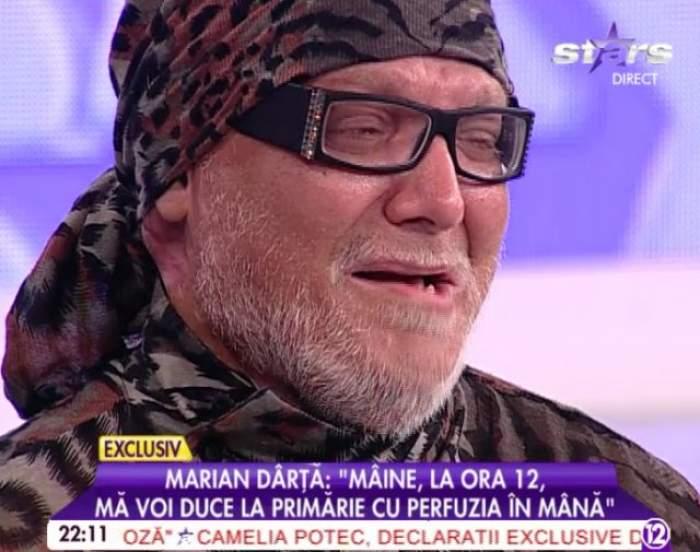 Marian Dârţă face un gest extrem care îl poate curma viaţa! Intră în greva foamei!